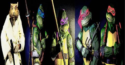 TMNT 1990 Master Splinter and Ninja Turtles