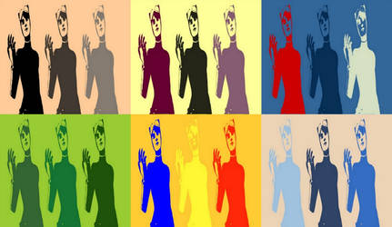 Triple Catwoman Six Panel Pop Art