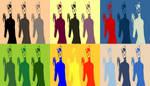 Triple Catwoman Six Panel Pop Art by TheGreatDevin