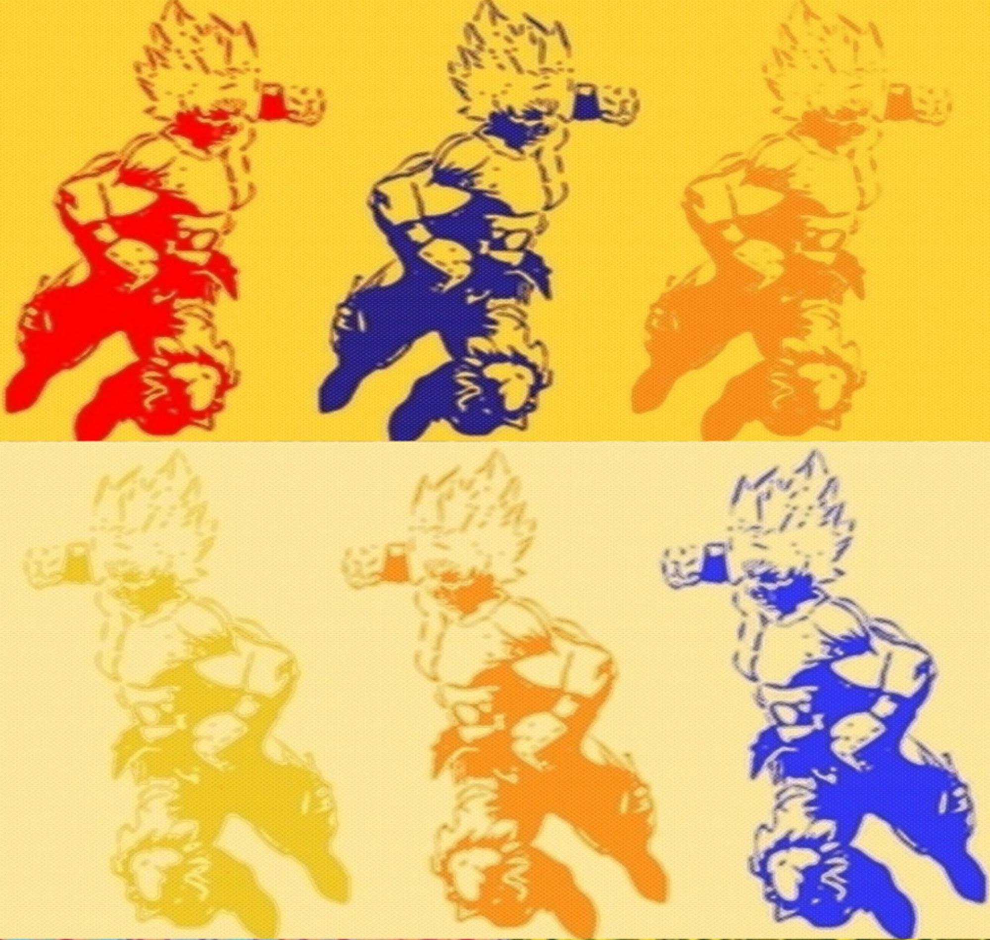 Dragonball Z Son Goku Super Sayan Pop Art