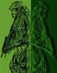 Halo Master Chief Warhol Style Pop Art