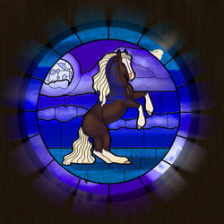 Stained Glass: DS Tempted Fate by Pandion-Equine