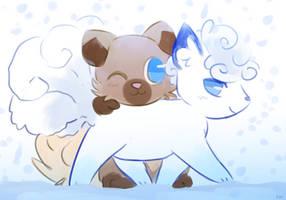 snow friends by kyzytyger