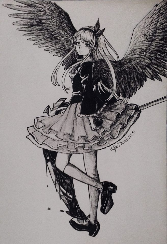 (Re)black angel by UYENTHANHTCN