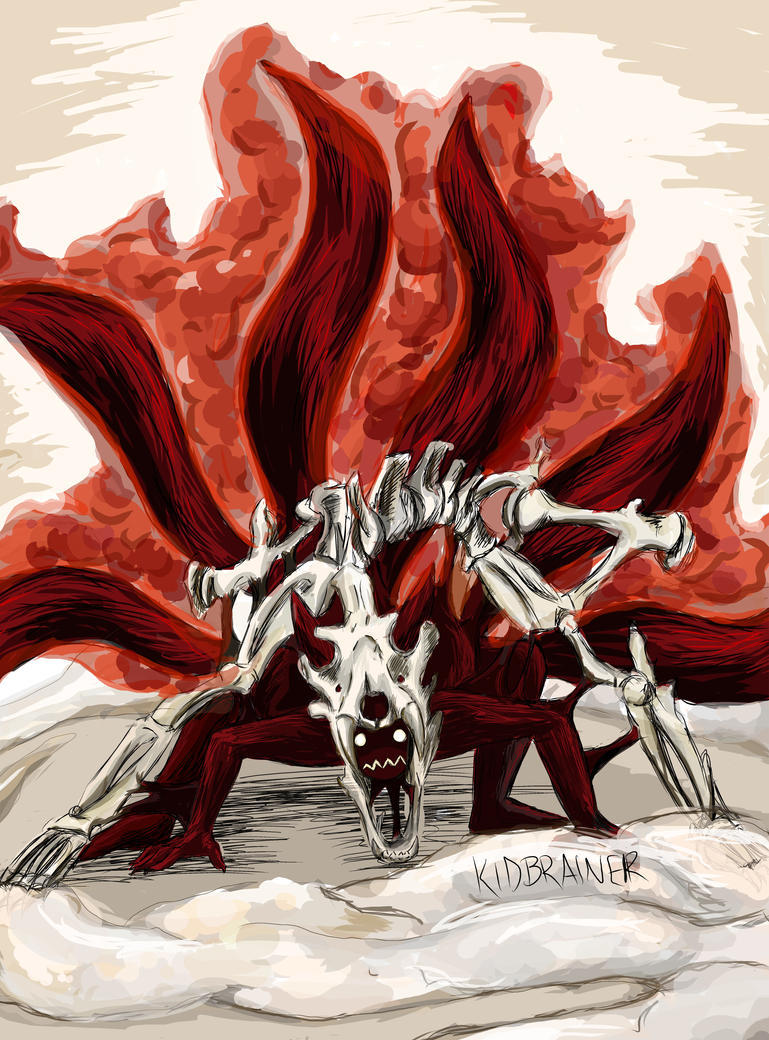 Six Tailed Kyuubi by kidbrainer on DeviantArt