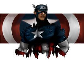 Captain America by kidbrainer