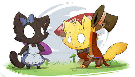 Dazzle 'n Peal Commission- Alice In Wonderland
