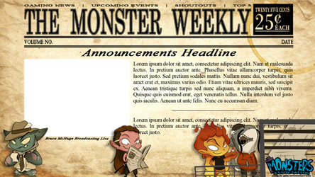The Monster Weekly- Twitch Overlay Commission