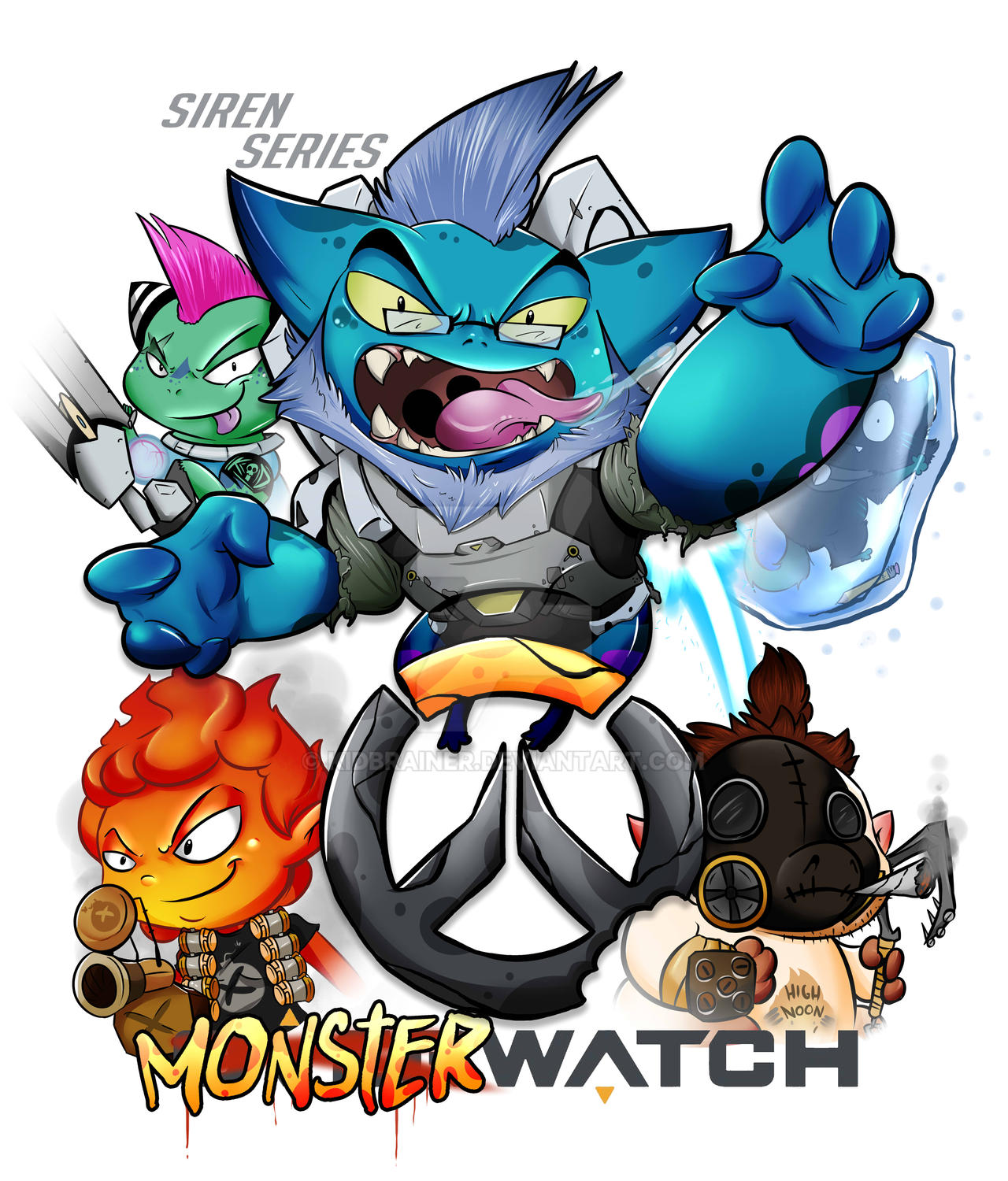 Overwatch Monsters Tournament Poster by kidbrainer