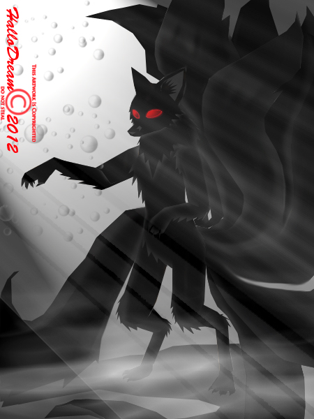 Dark Kitsune Show off the magic by HalloDream on DeviantArt