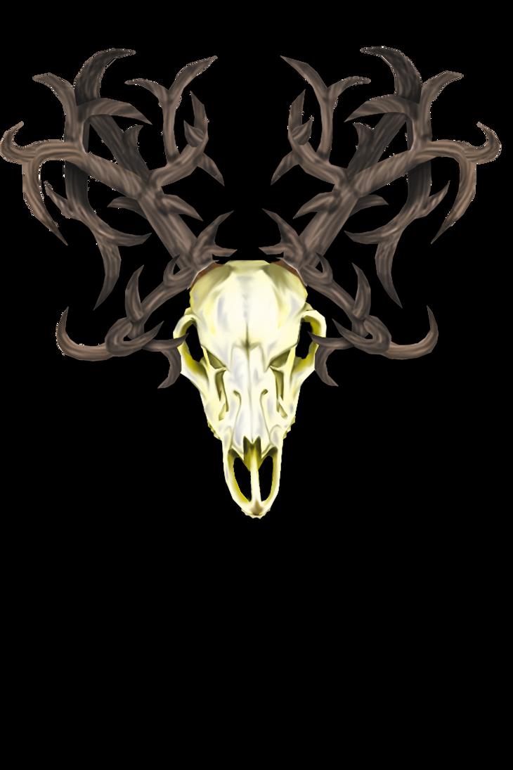 Winter Deer Skull by HalloDream
