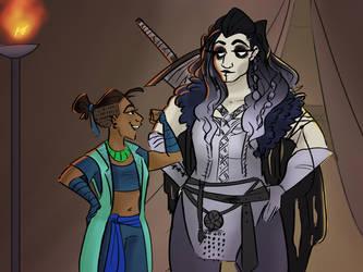 Critical Role Yasha and Beau by kcsketch