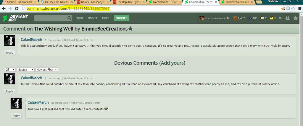 Screenshot - comment display by shehrozeameen