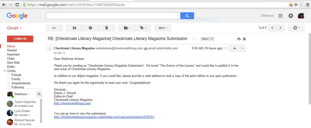 Checkmate Literary Magazine by shehrozeameen