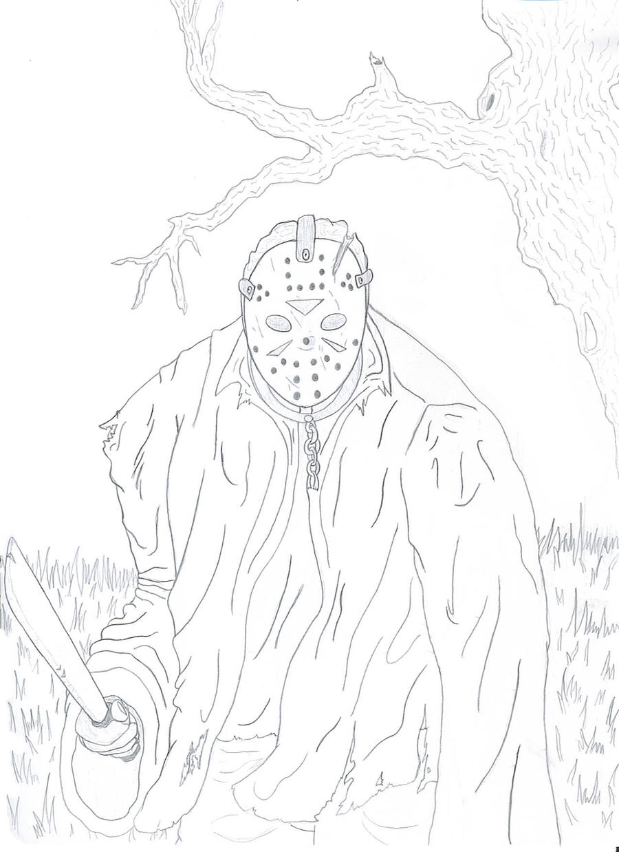 freddy vs jason coloring pages - jason voorhees on moviemaniacs deviantart