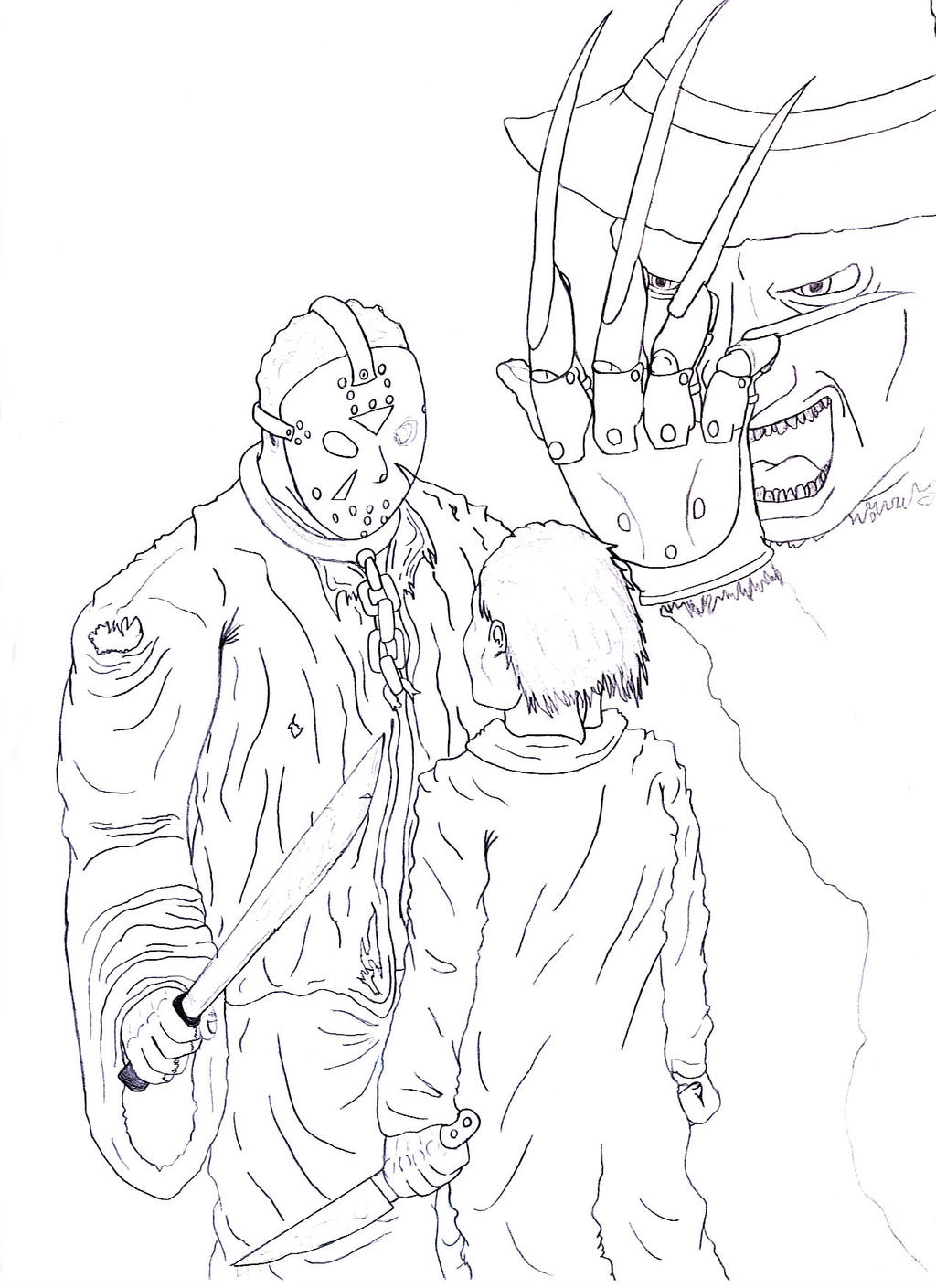 Free jason voorhees coloring pages download