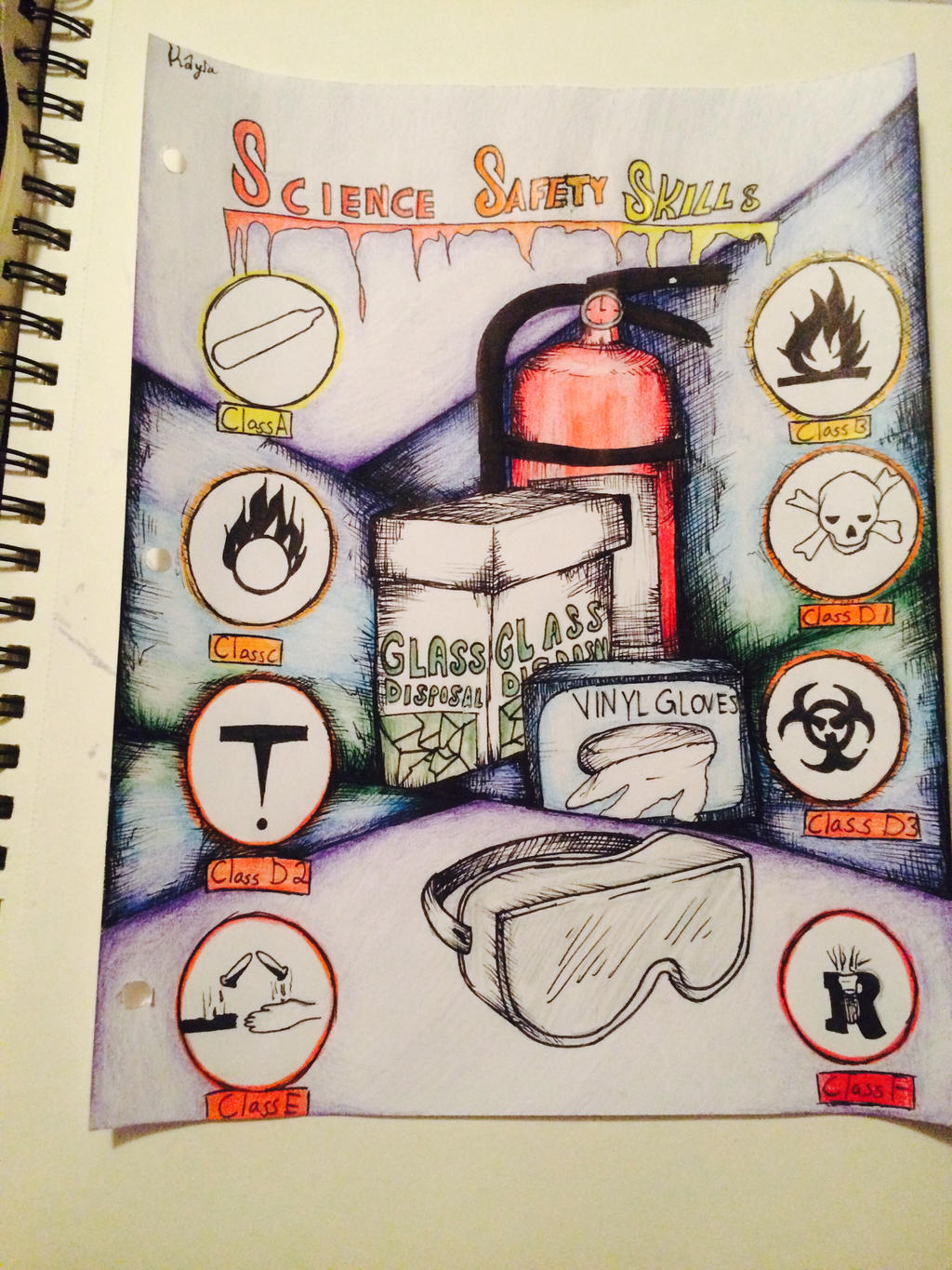 Cover Page Of Drawing Book : My science title page by meridianart on deviantart