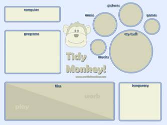 Monkey desktop organiser by Mimi-Mushroom