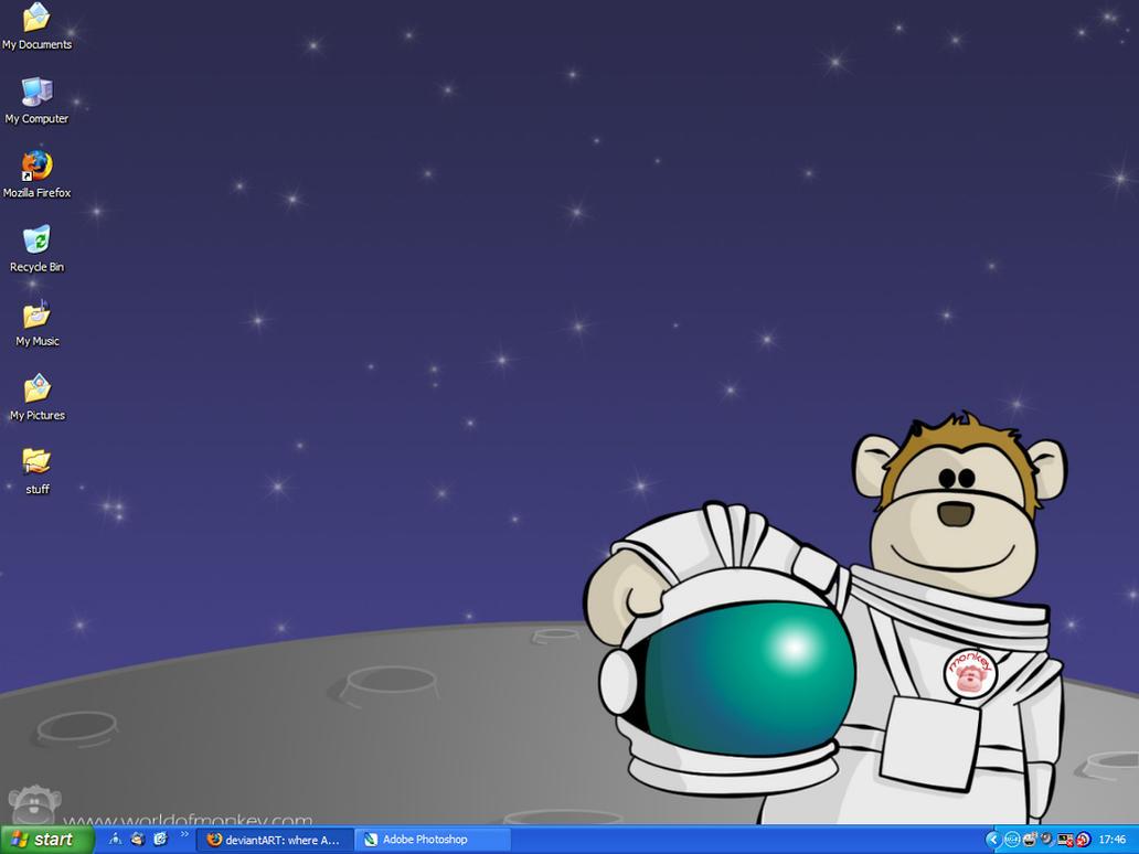 Monkey Astronaut screen by Mimi-Mushroom
