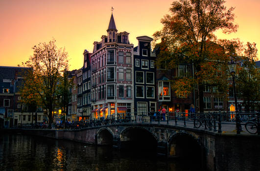 Sunset Bridge in Amsterdam