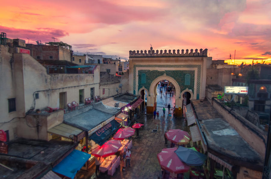 Sunset in Morocco by INVIV0