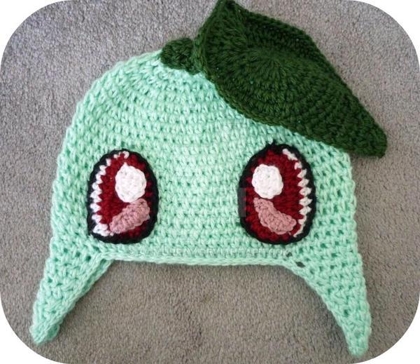 Free Crochet Pattern Pokemon Hat : Pokemon Chikorita Beanie by AAMurray on DeviantArt