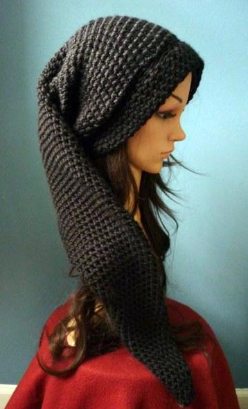 Long Crochet Black Link Beanie by AAMurray on deviantART 5328df0d536