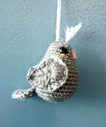 Grey Bird Ornament by AAMurray