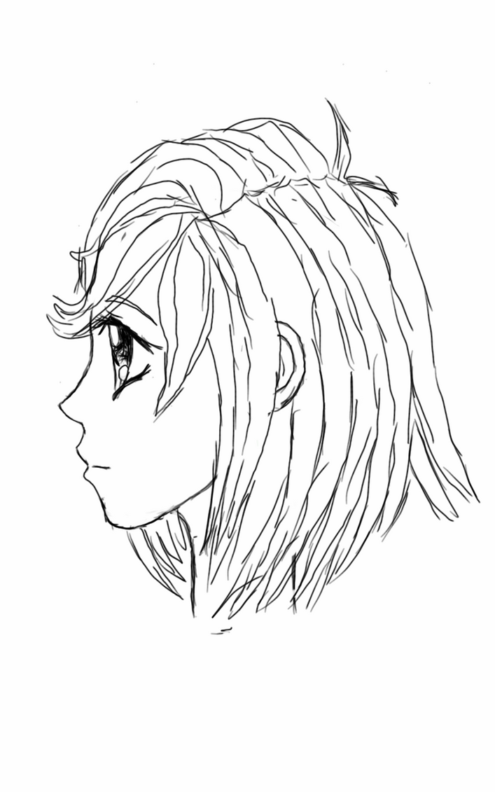 female face side view by cwmur on deviantart