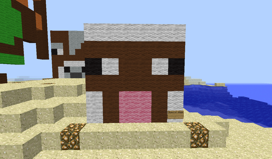 how to make a minecraft sheep