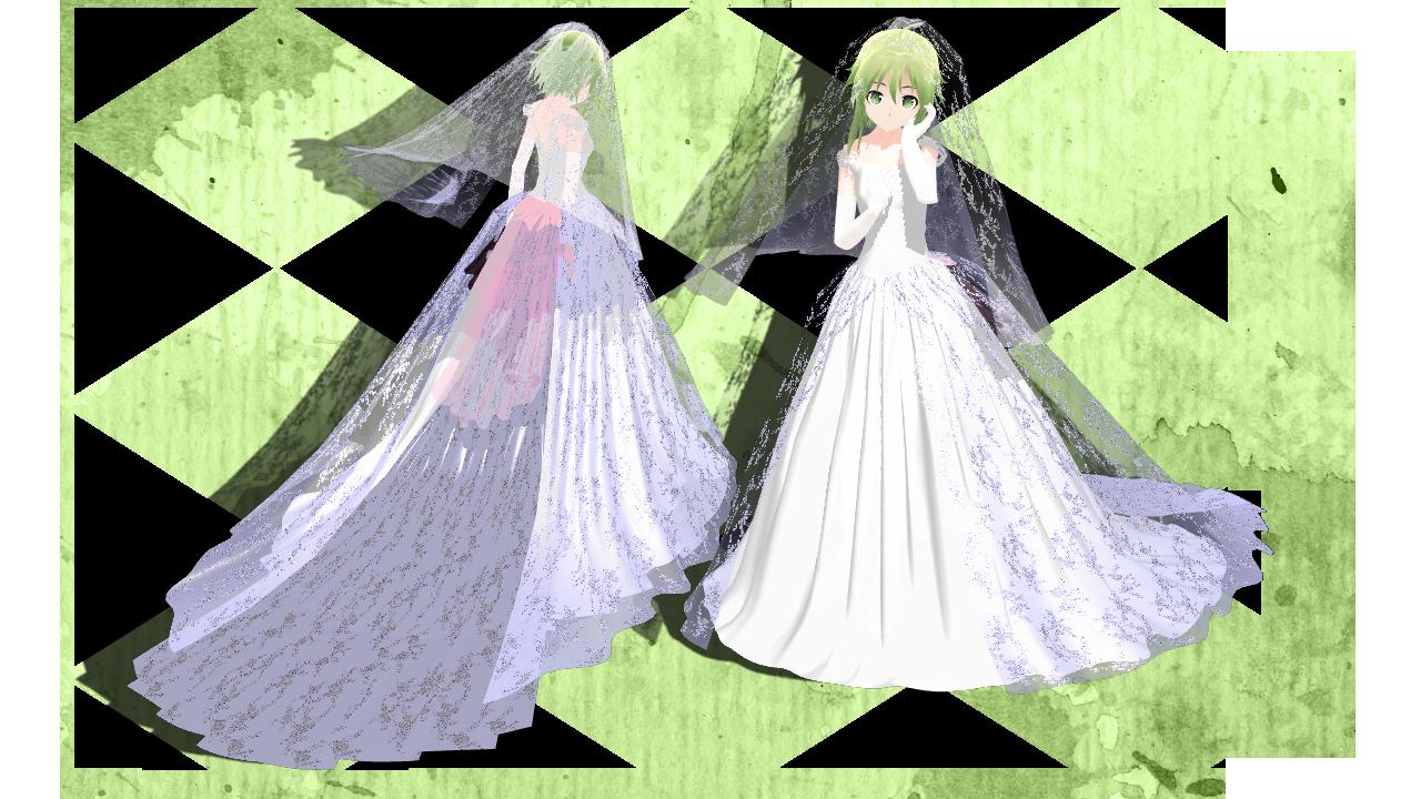 [MMD] GUMI Wendding Dress + DL by TinaUtsukushiine