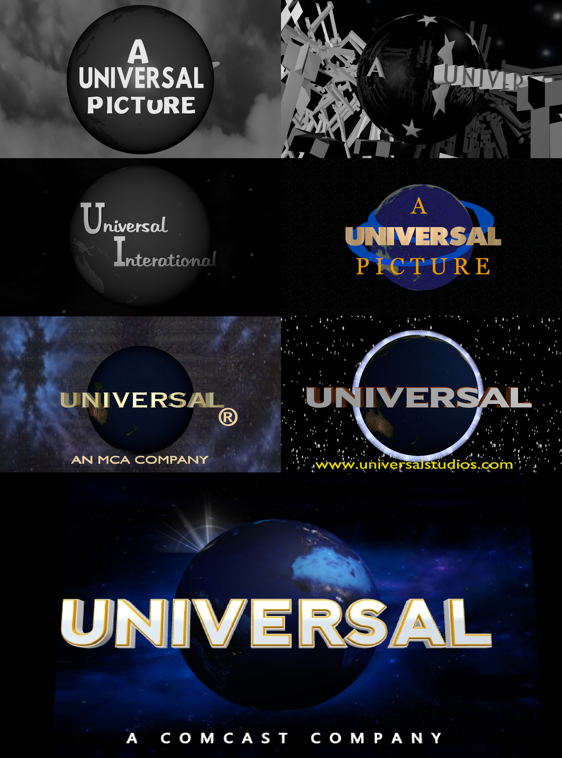 My Take On All Universal Logos Old By Superbaster2015 On Deviantart