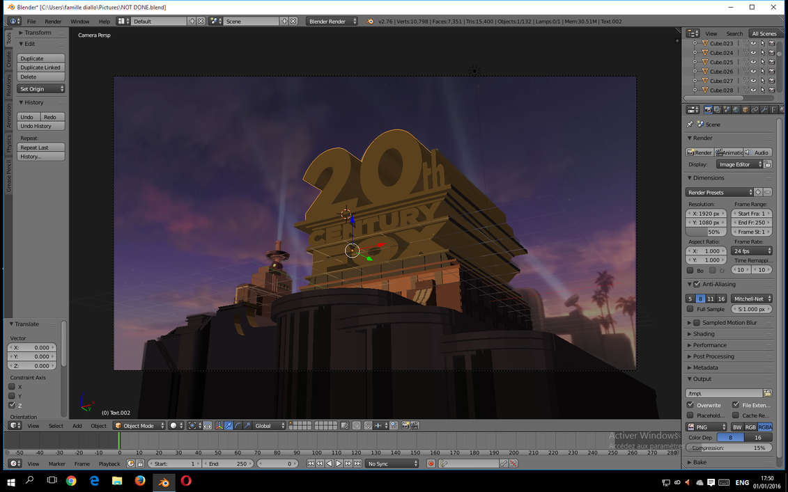 20th Century Fox Logo Blender Tutorial 20th Century Fox