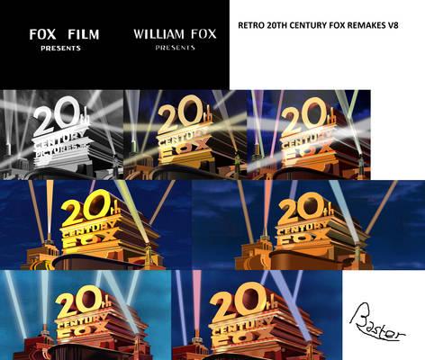 Retro 20th Century Fox Logo Remakes V8