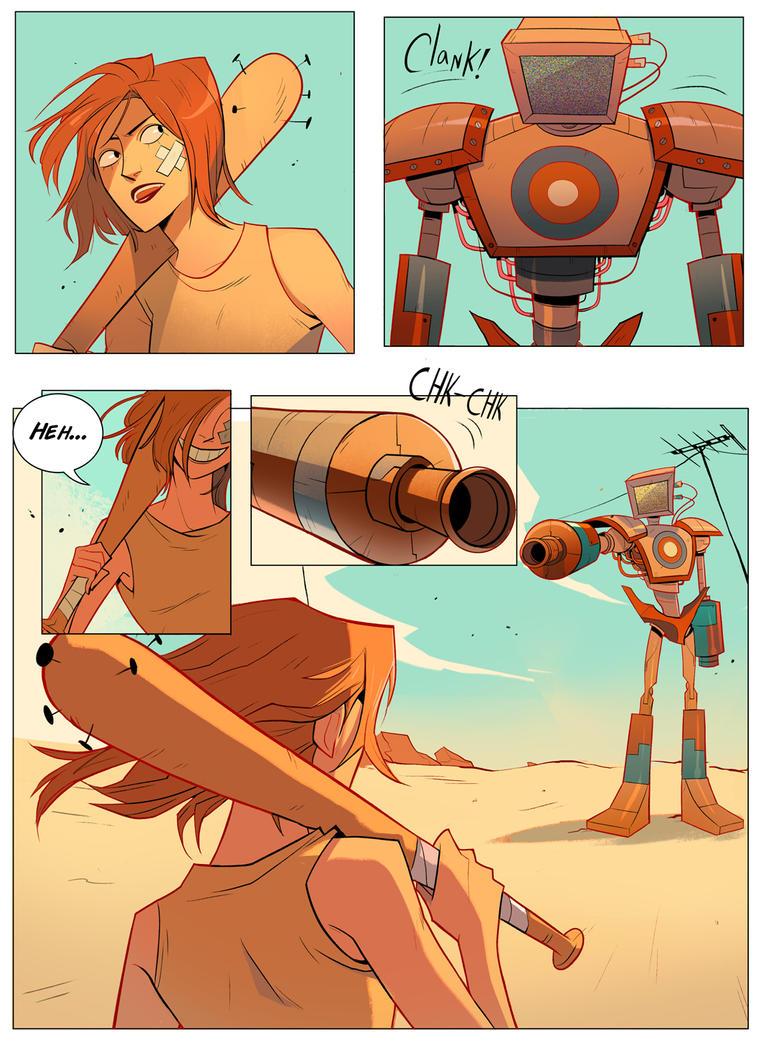 Junko vs. Robot 1 by Nadiezda