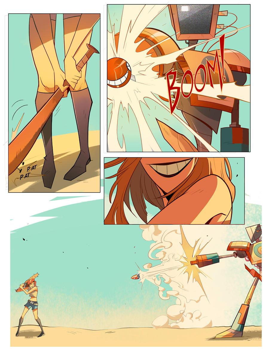 Junko vs. Robot 2 by Nadiezda