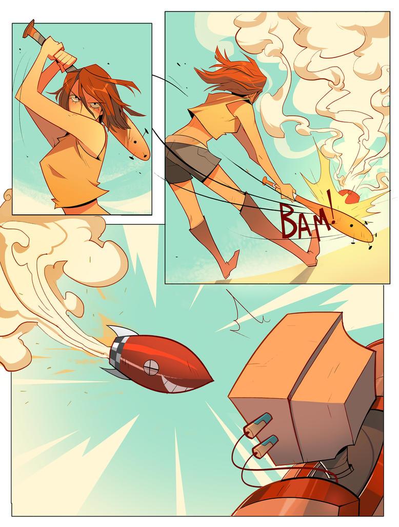 Junko vs. Robot 3 by Nadiezda