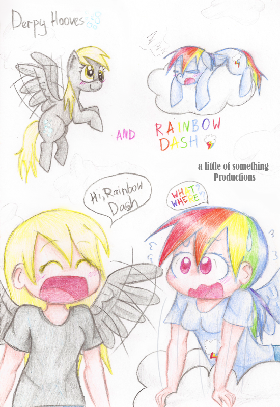Rainbow Dash and Derpy Hooves by alittleofsomething on ...  Filly Rainbow Dash And Derpy