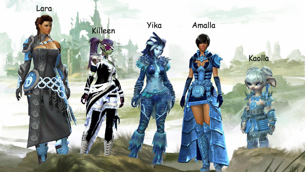 Guild Wars 2 Anime Characters : Guild wars my characters by kaollachan on deviantart