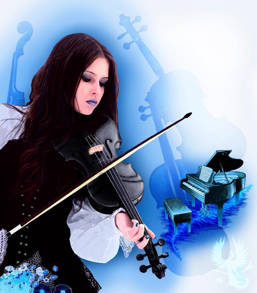 Ice-Struck Musician by phoenix-muse