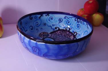 Purple Swirls Bowl (Full View)