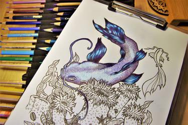 Koy for Waveward Dreams Coloring Book