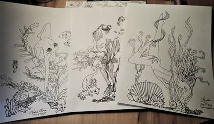 Illustrations for Waveward Dreams Coloring Book
