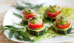 Marrow squash canape with green sauce (raw vegan) by julia-caramelina