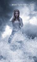 Water Splash girl by Hazemsaleh