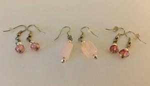 More Pink Earrings