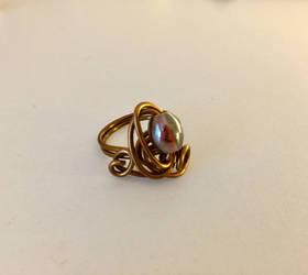 Swirly Wire Wrap Ring
