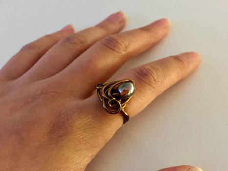 Swirly Wire Wrap Ring 2