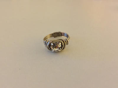 Silver Wire Wrap Ring 2