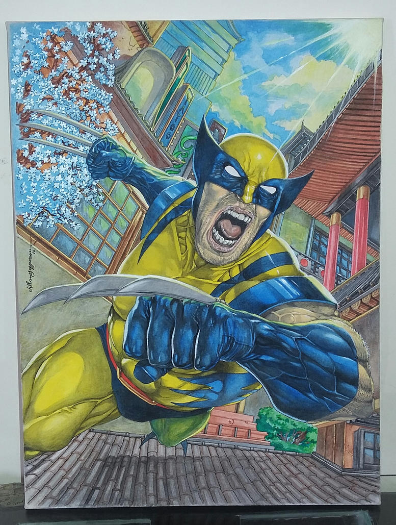 Wolverine on canvas_ Painting by AllJeff